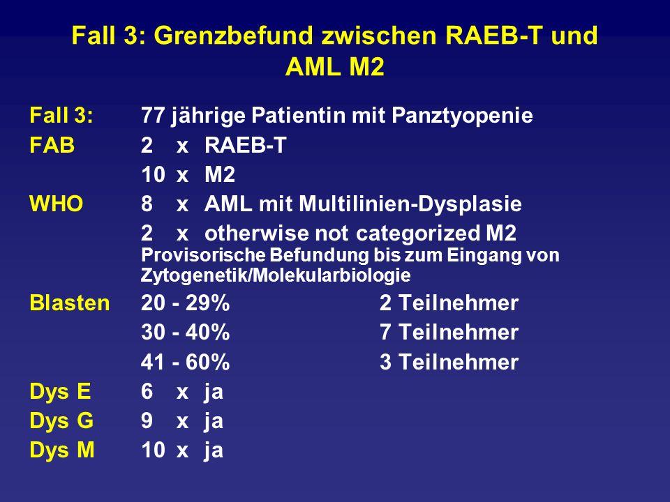 Fall 3: Grenzbefund zwischen RAEB-T und AML M2