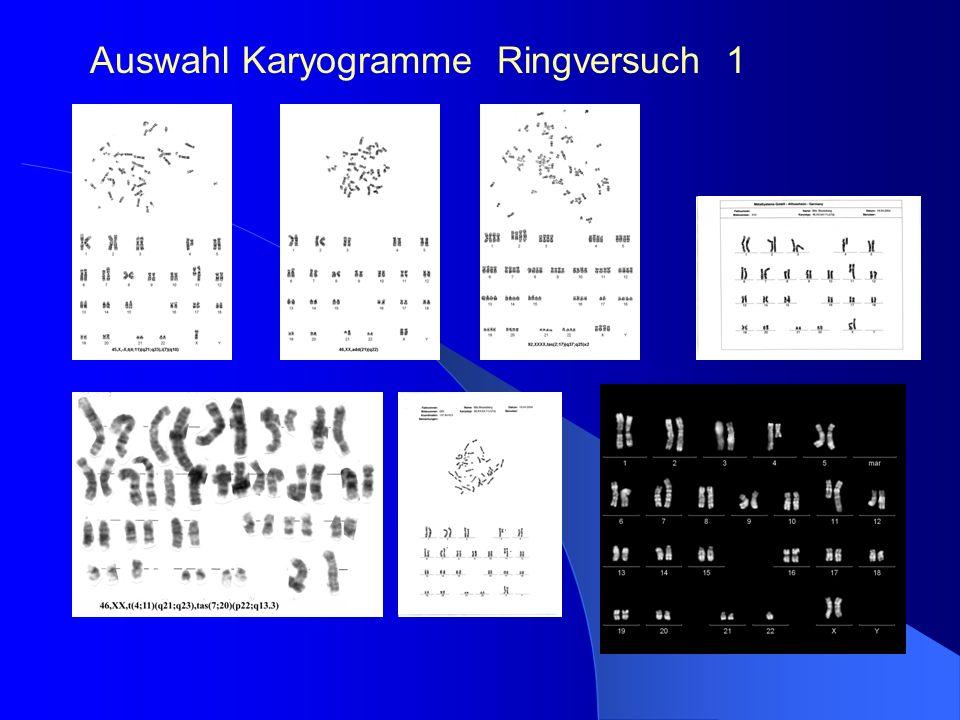 Auswahl Karyogramme Ringversuch 1