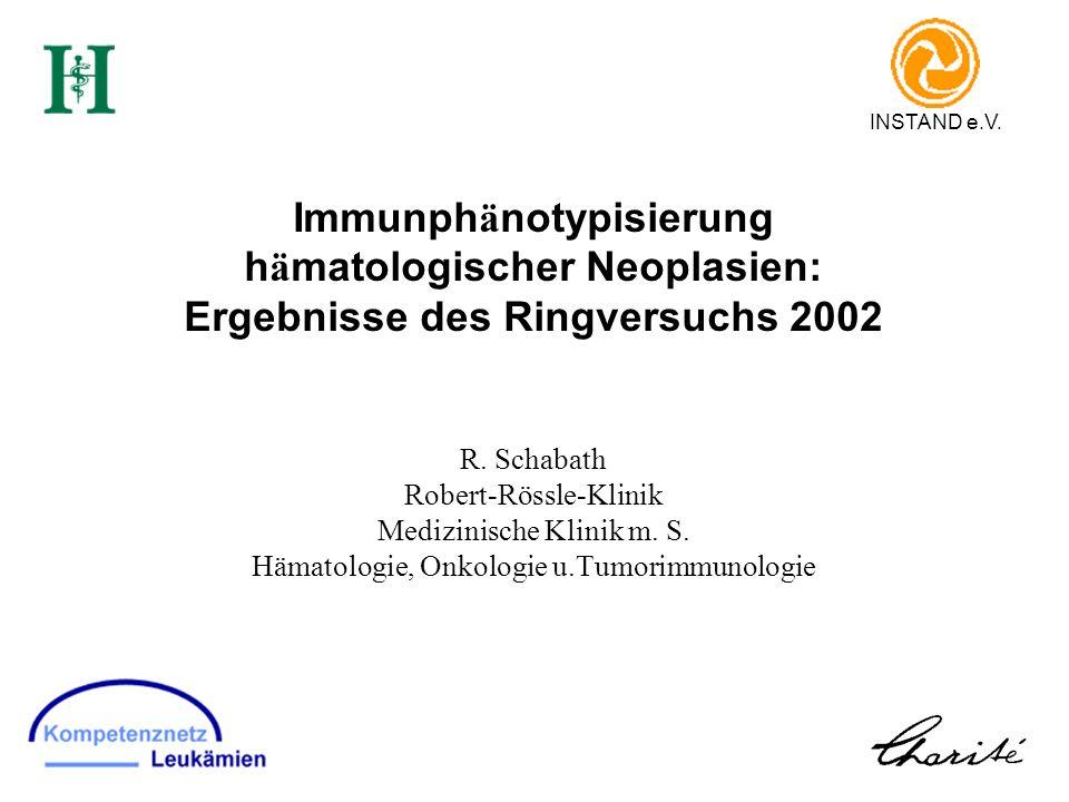 Immunphänotypisierung hämatologischer Neoplasien: