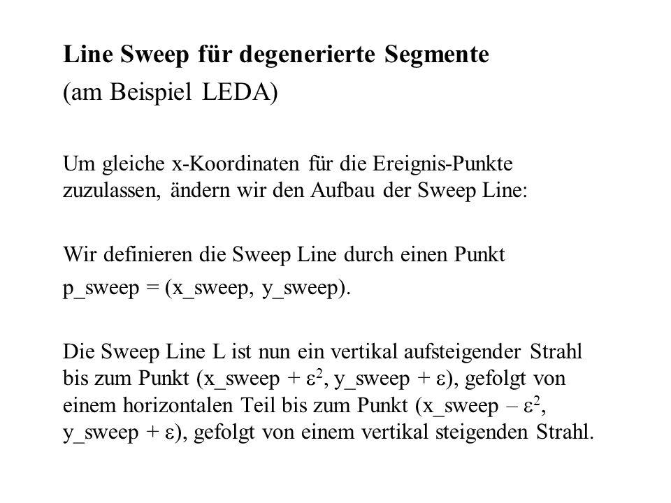 (am Beispiel LEDA) Line Sweep für degenerierte Segmente