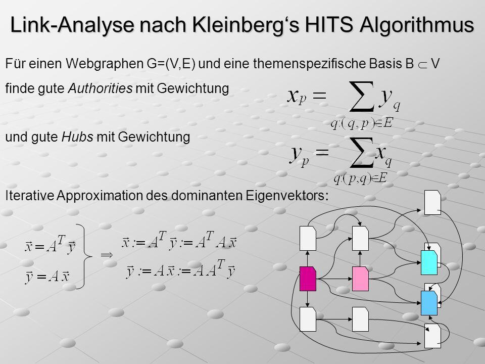 Link-Analyse nach Kleinberg's HITS Algorithmus