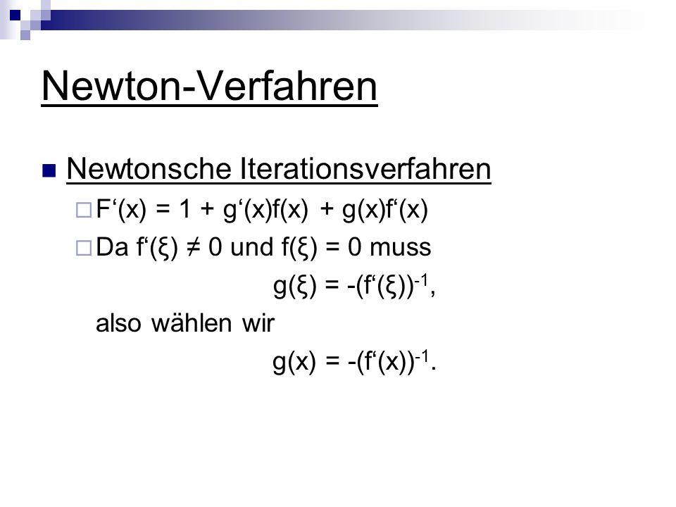 Newton-Verfahren Newtonsche Iterationsverfahren
