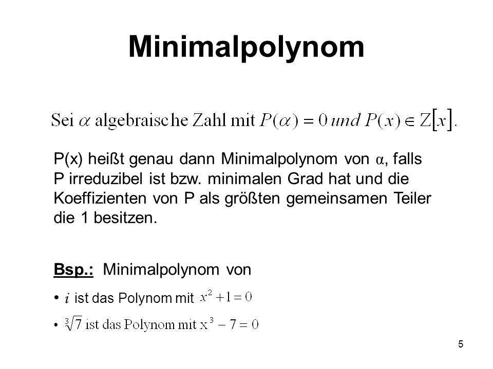 Minimalpolynom