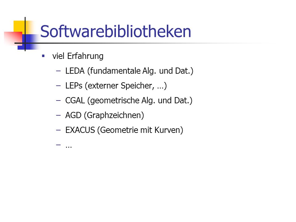 Softwarebibliotheken
