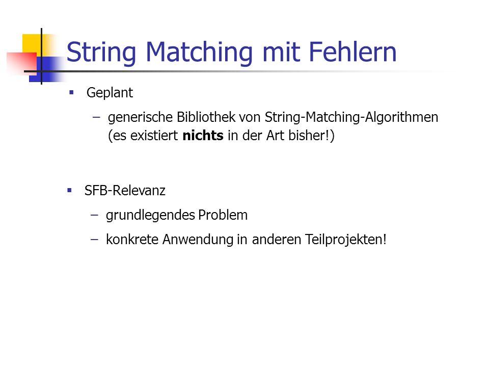 String Matching mit Fehlern