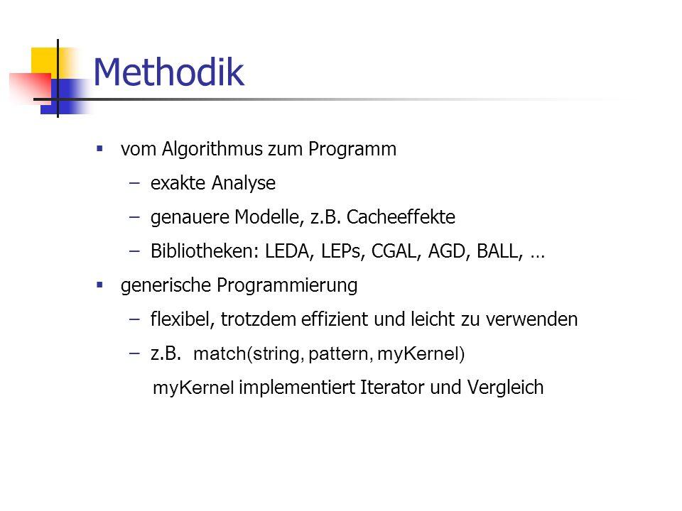Methodik vom Algorithmus zum Programm exakte Analyse