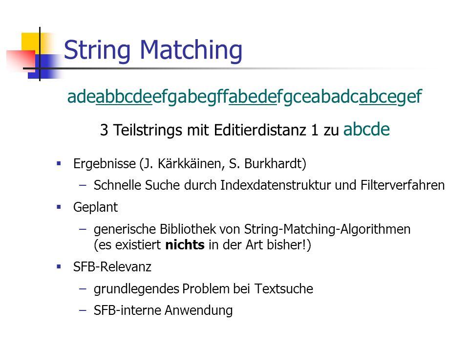 String Matching adeabbcdeefgabegffabedefgceabadcabcegef