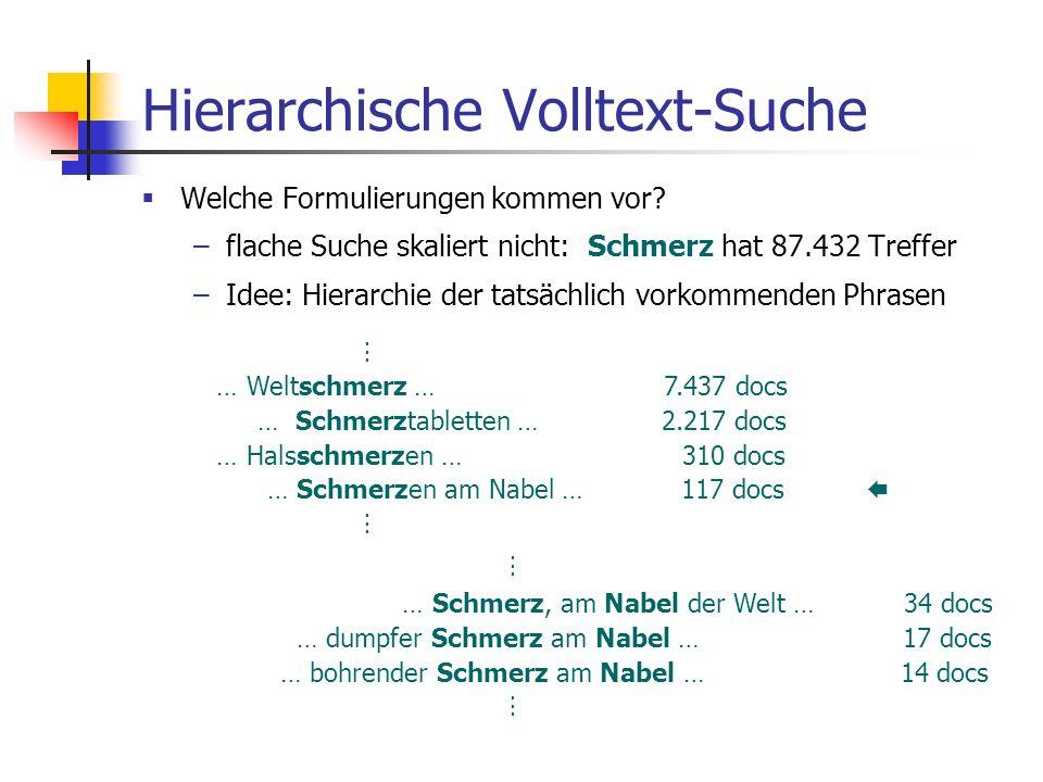 Hierarchische Volltext-Suche