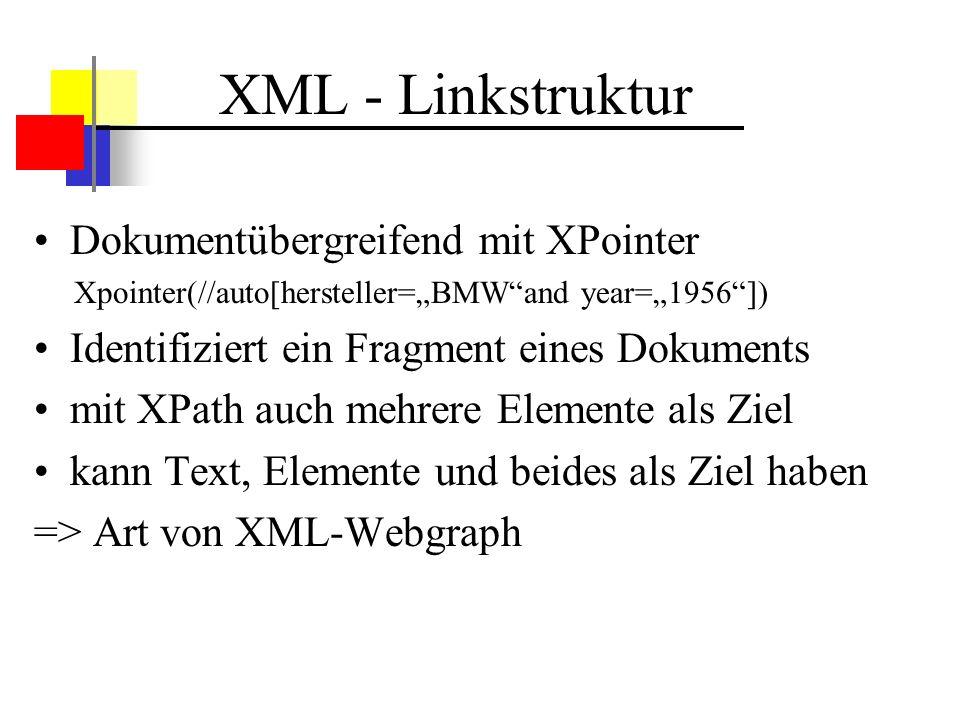 XML - Linkstruktur Dokumentübergreifend mit XPointer
