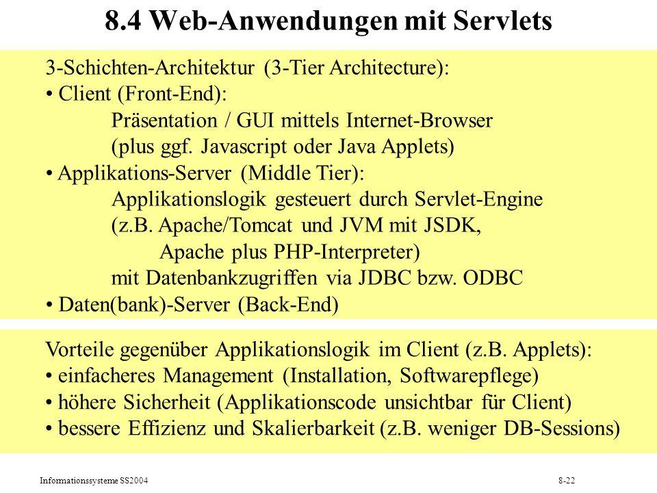 8.4 Web-Anwendungen mit Servlets