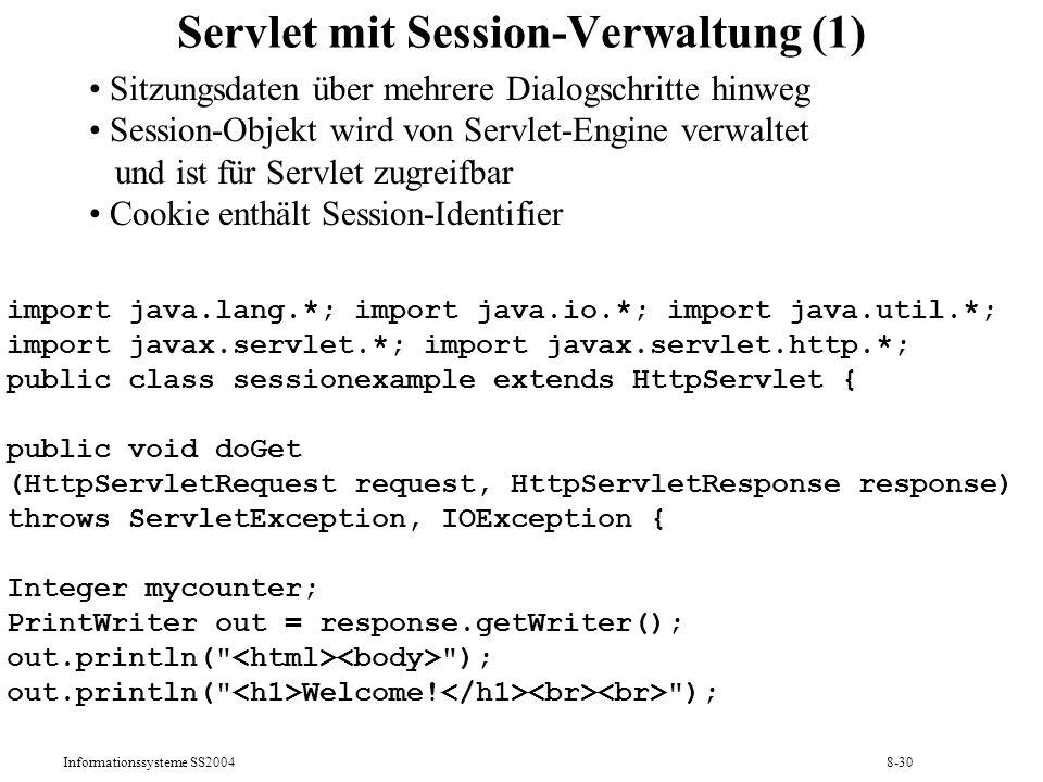Servlet mit Session-Verwaltung (1)