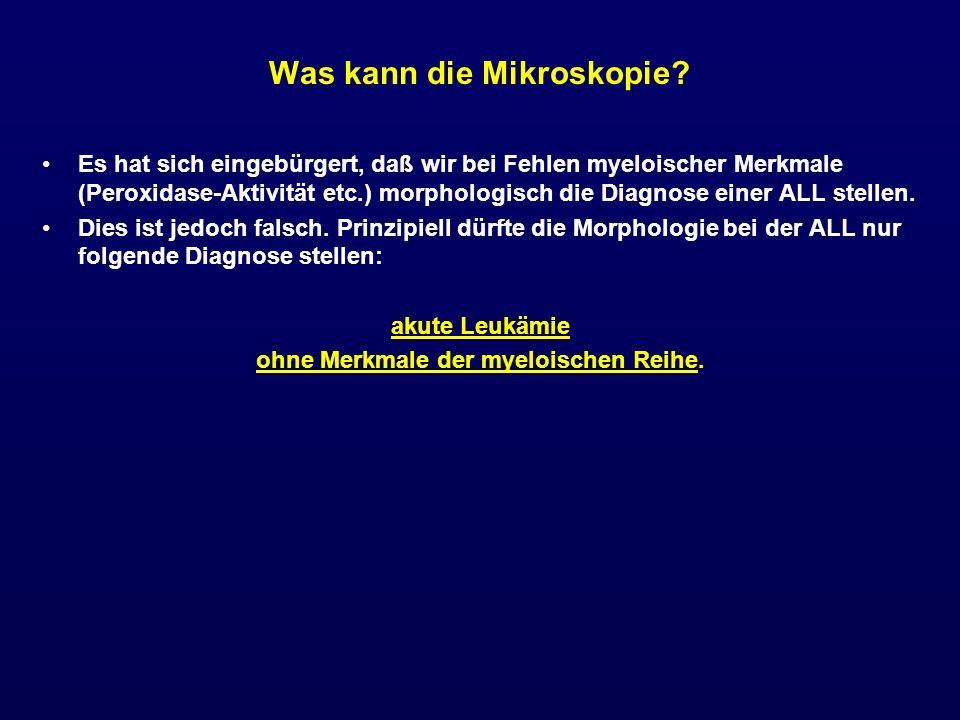 Was kann die Mikroskopie