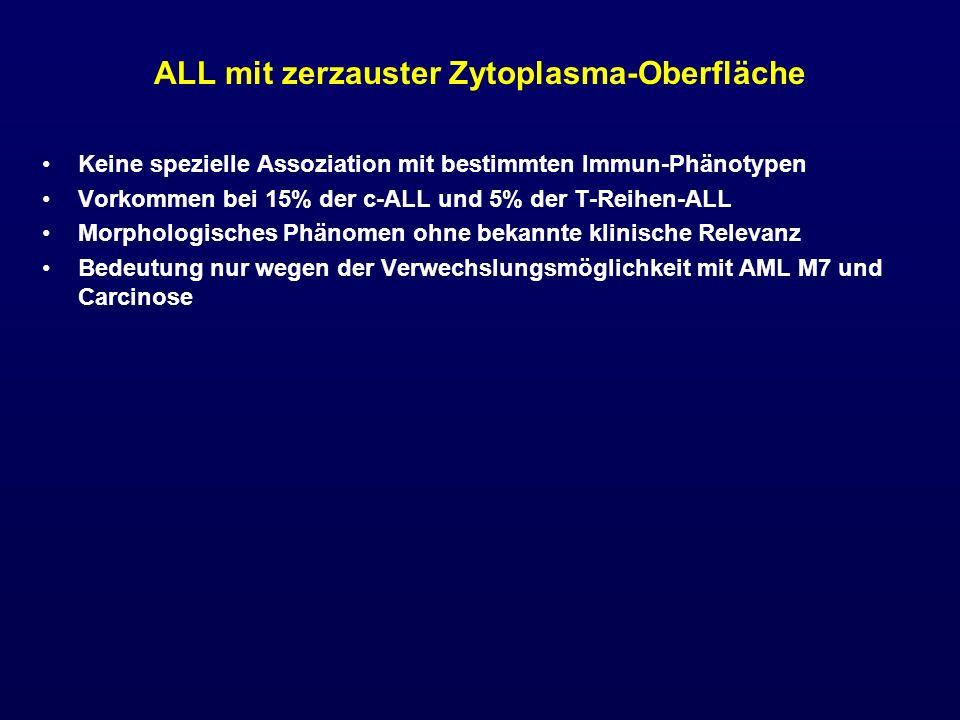 ALL mit zerzauster Zytoplasma-Oberfläche