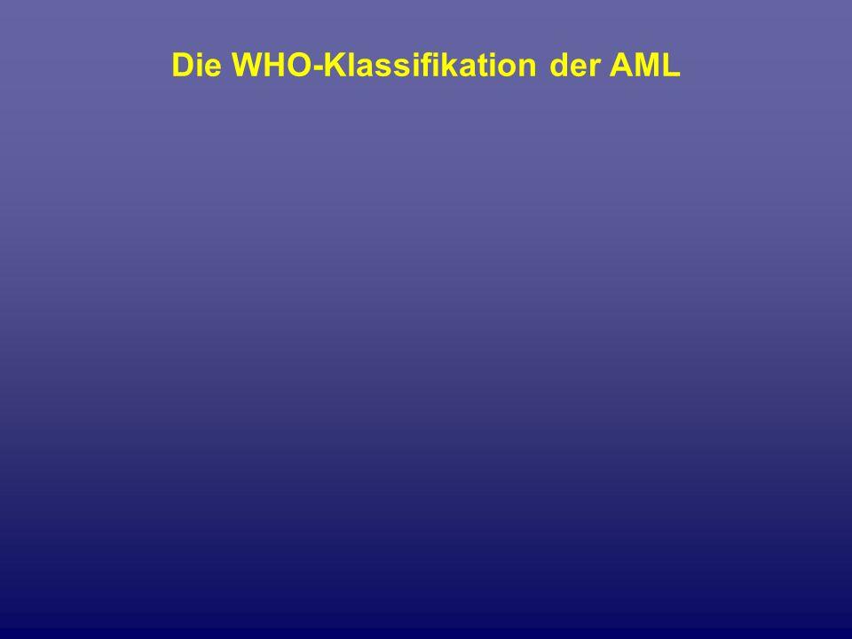 Die WHO-Klassifikation der AML