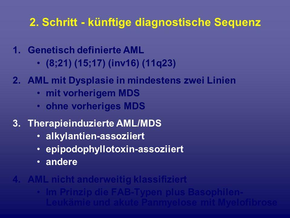 2. Schritt - künftige diagnostische Sequenz