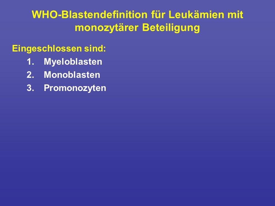 WHO-Blastendefinition für Leukämien mit monozytärer Beteiligung