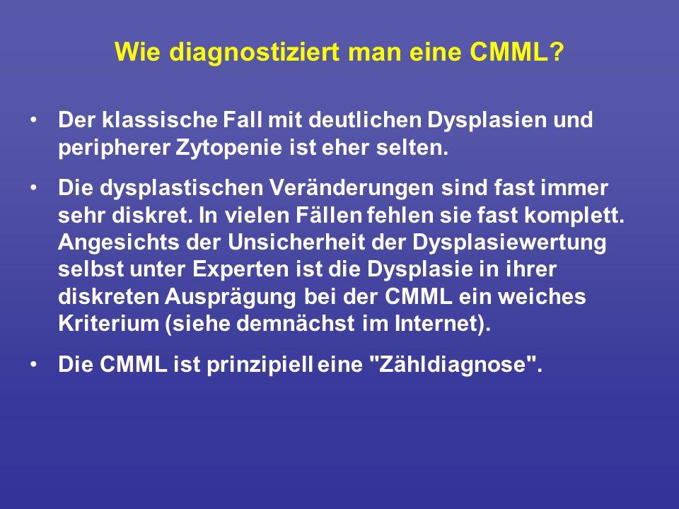 Wie diagnostiziert man eine CMML