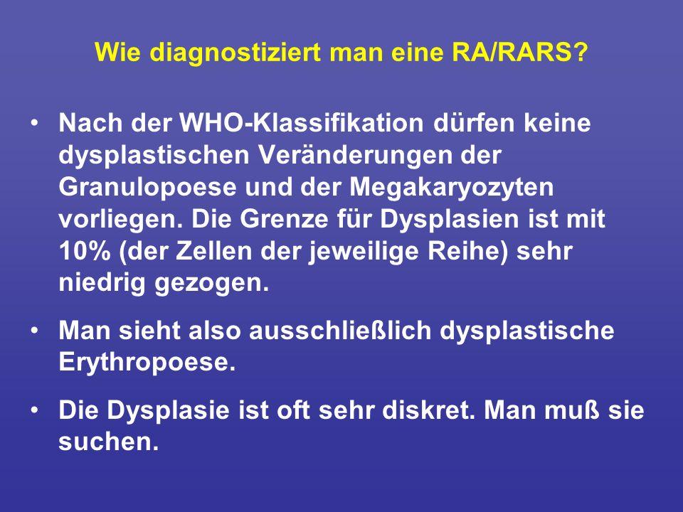 Wie diagnostiziert man eine RA/RARS