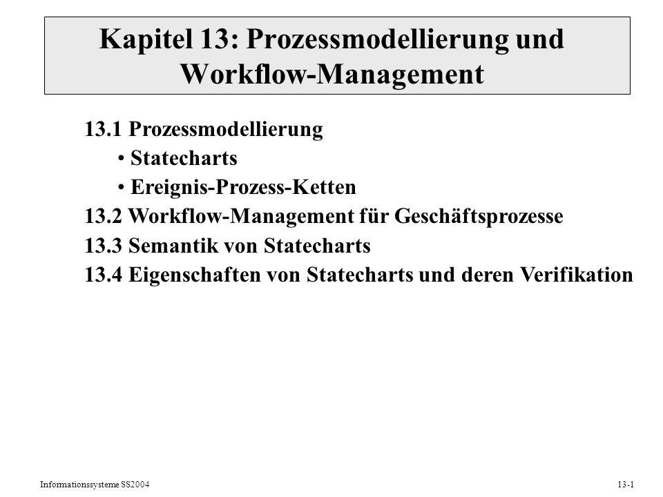 Kapitel 13: Prozessmodellierung und Workflow-Management