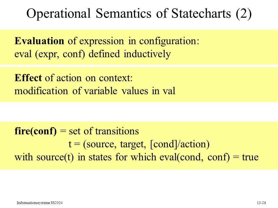 Operational Semantics of Statecharts (2)