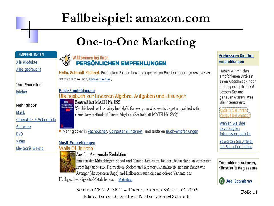Fallbeispiel: amazon.com