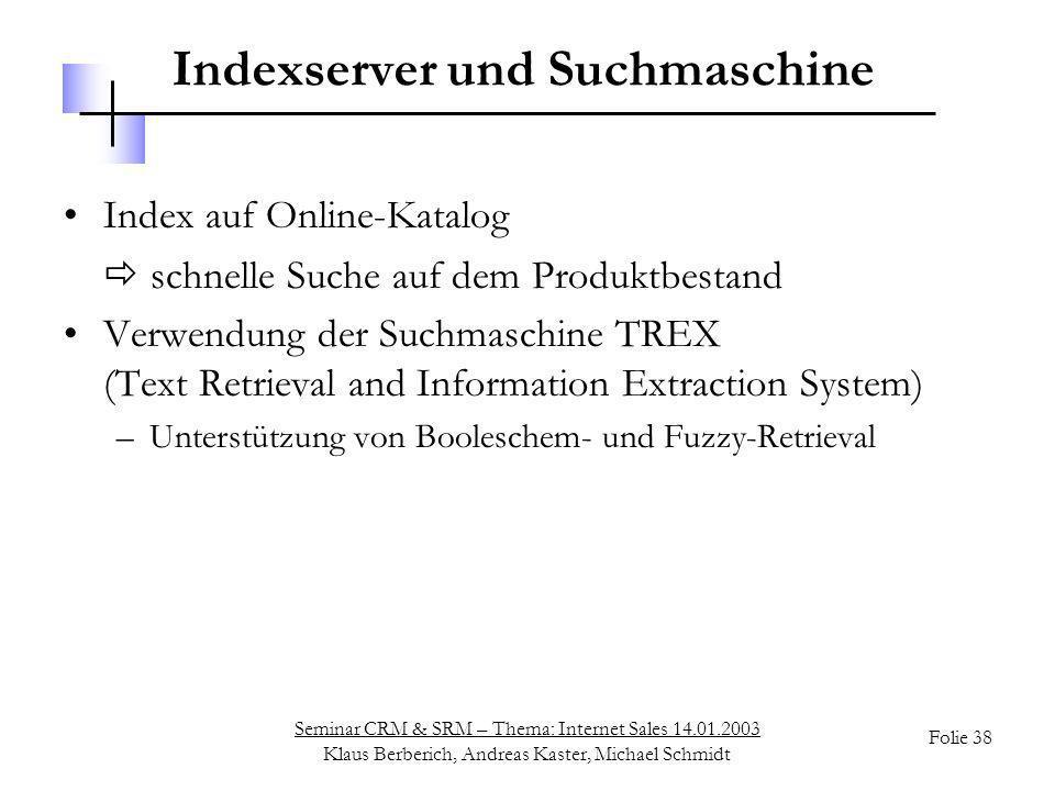 Indexserver und Suchmaschine