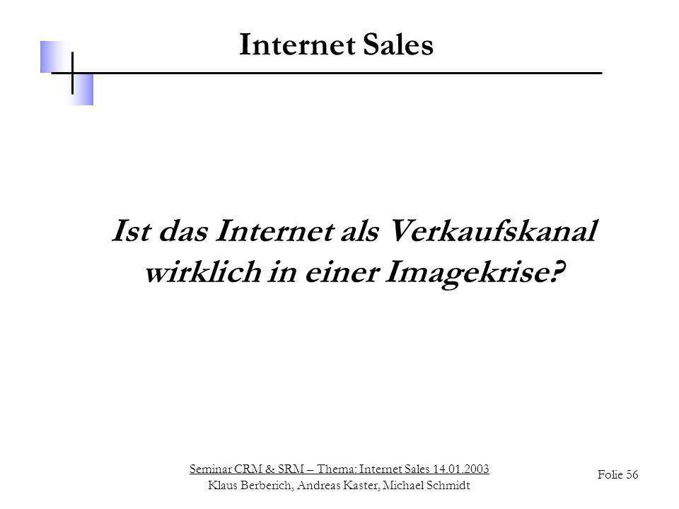 Ist das Internet als Verkaufskanal wirklich in einer Imagekrise