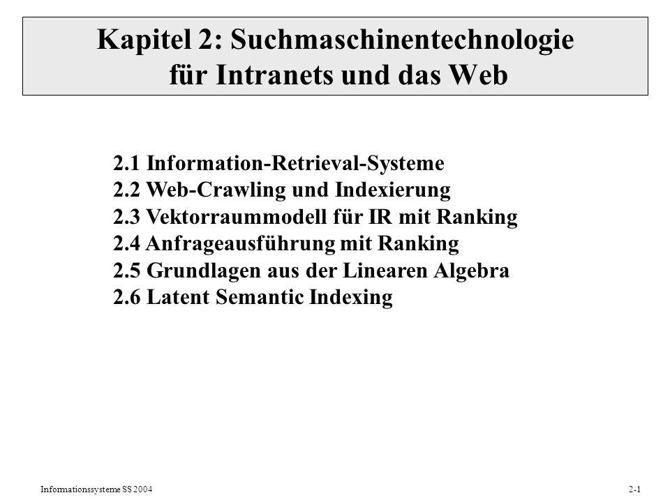 Kapitel 2: Suchmaschinentechnologie für Intranets und das Web
