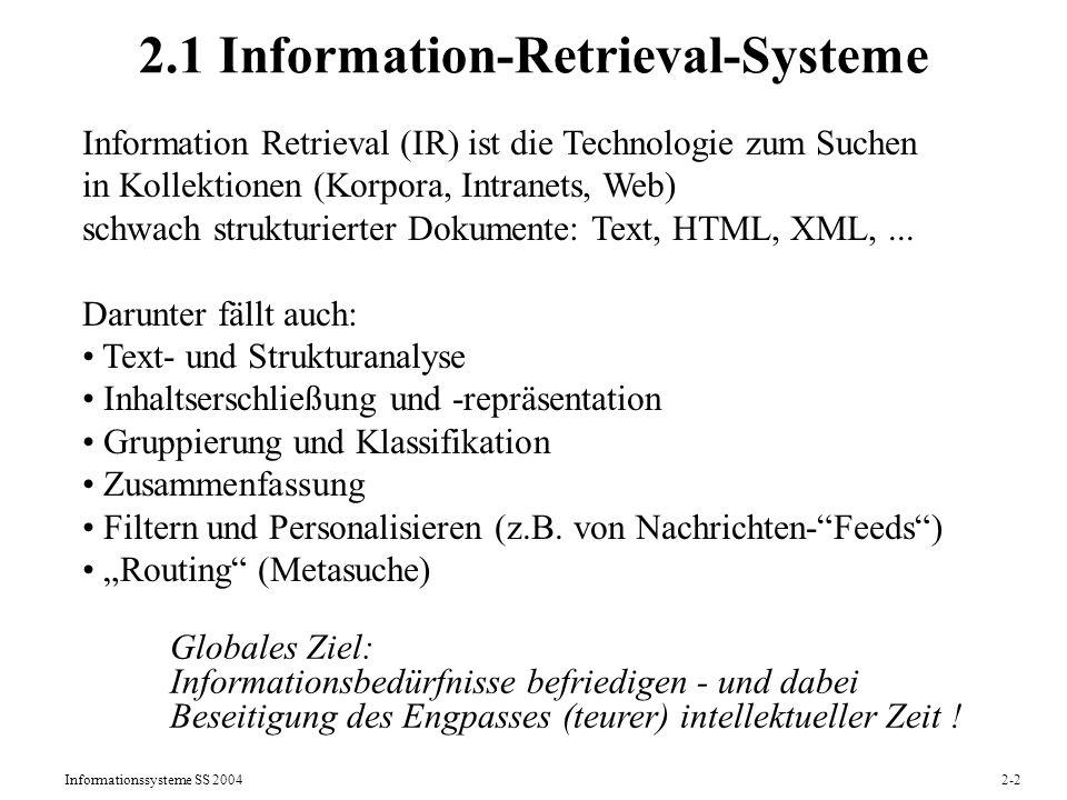 2.1 Information-Retrieval-Systeme