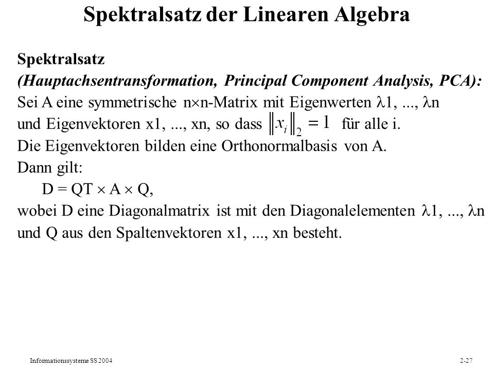 Spektralsatz der Linearen Algebra