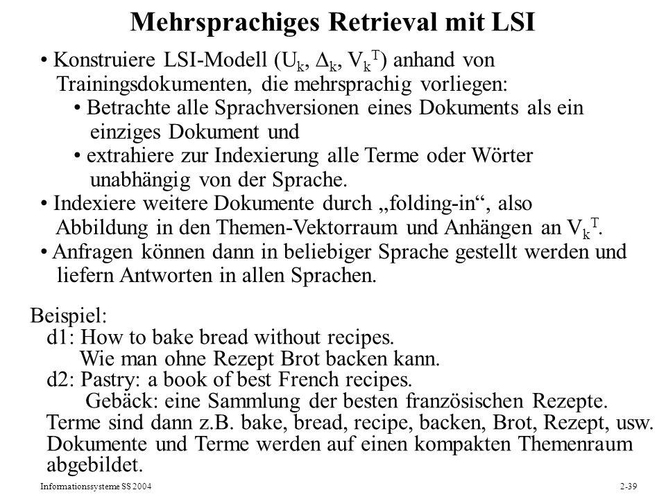 Mehrsprachiges Retrieval mit LSI