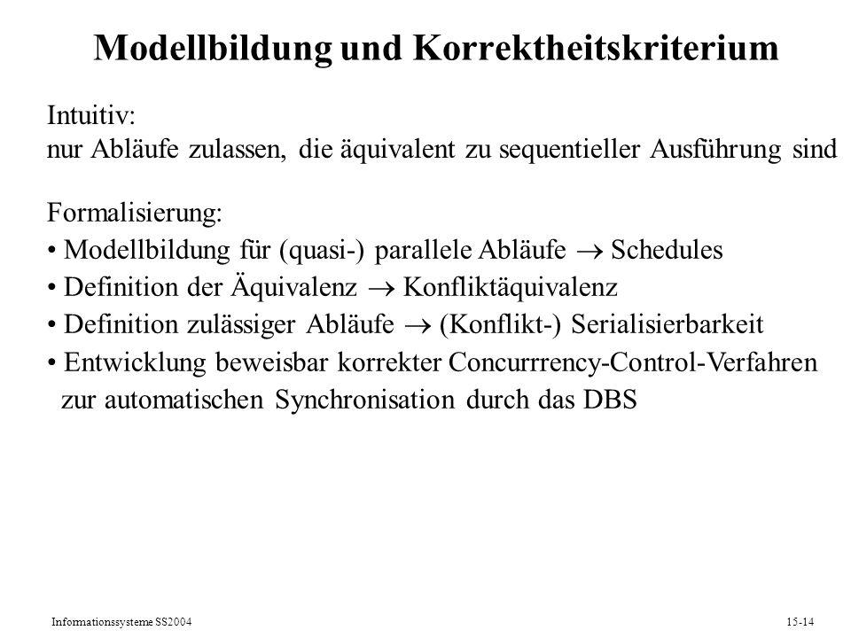 Modellbildung und Korrektheitskriterium