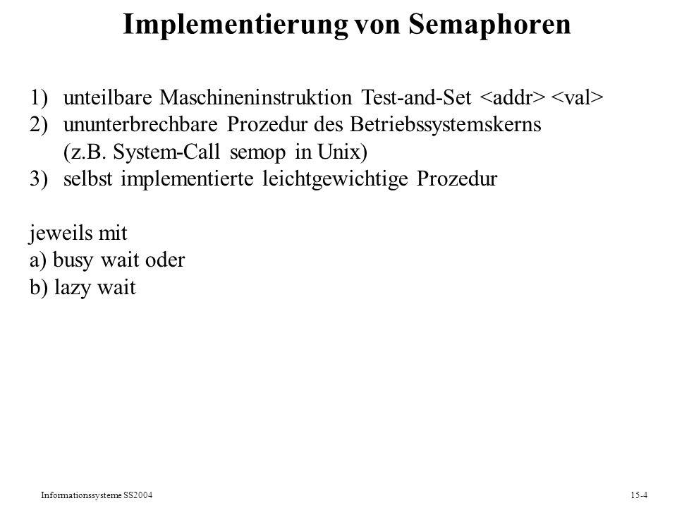 Implementierung von Semaphoren