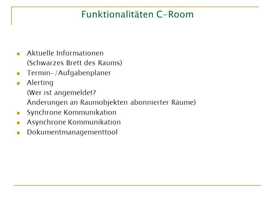 Funktionalitäten C-Room
