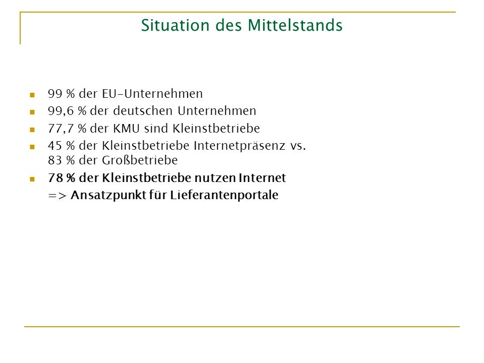 Situation des Mittelstands