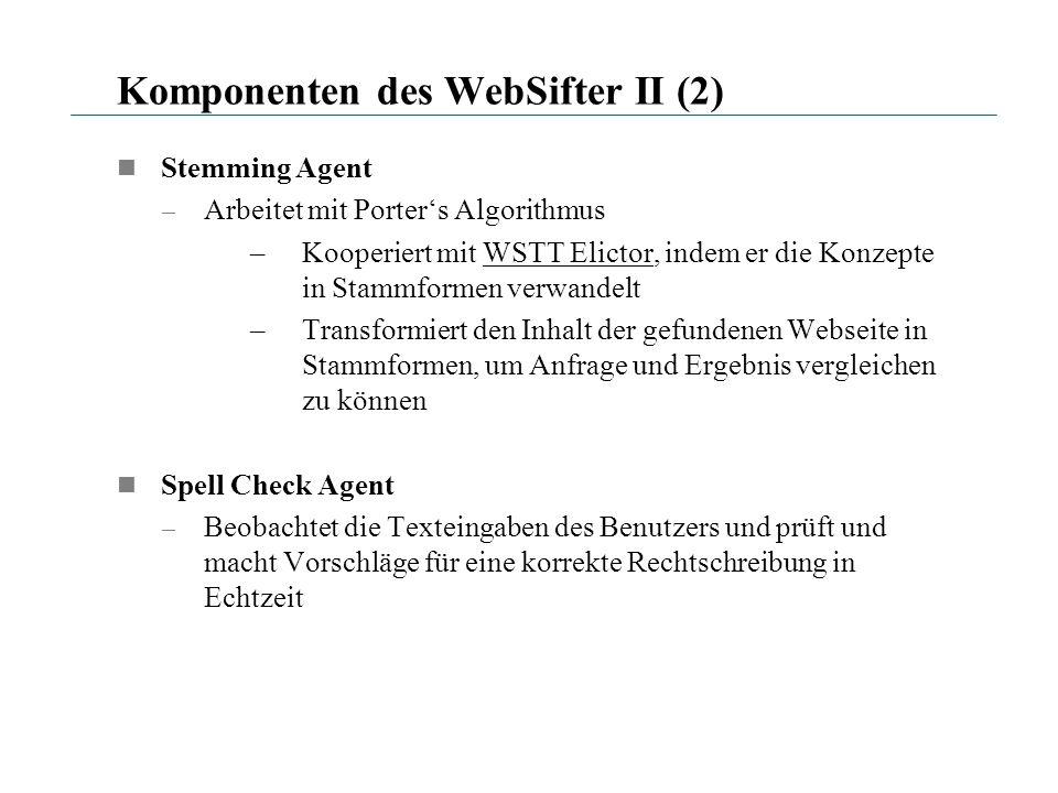 Komponenten des WebSifter II (2)