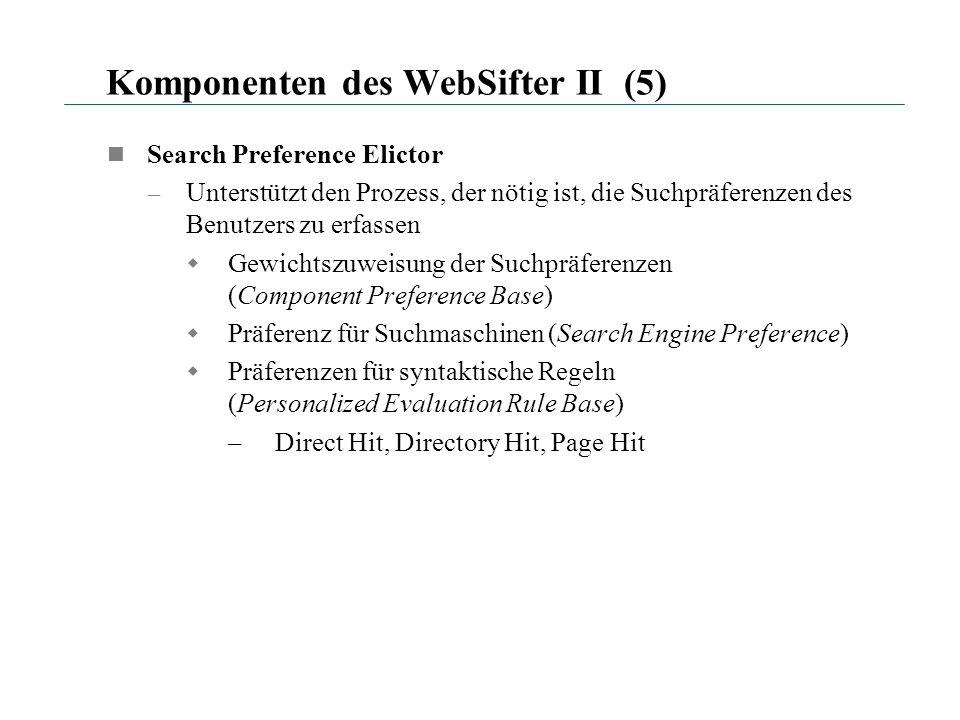 Komponenten des WebSifter II (5)