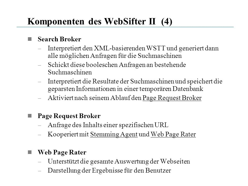 Komponenten des WebSifter II (4)
