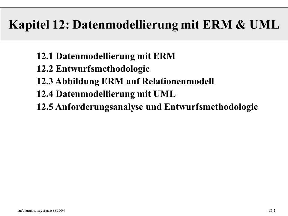 Kapitel 12: Datenmodellierung mit ERM & UML