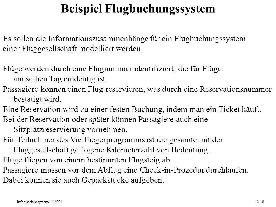 Beispiel Flugbuchungssystem