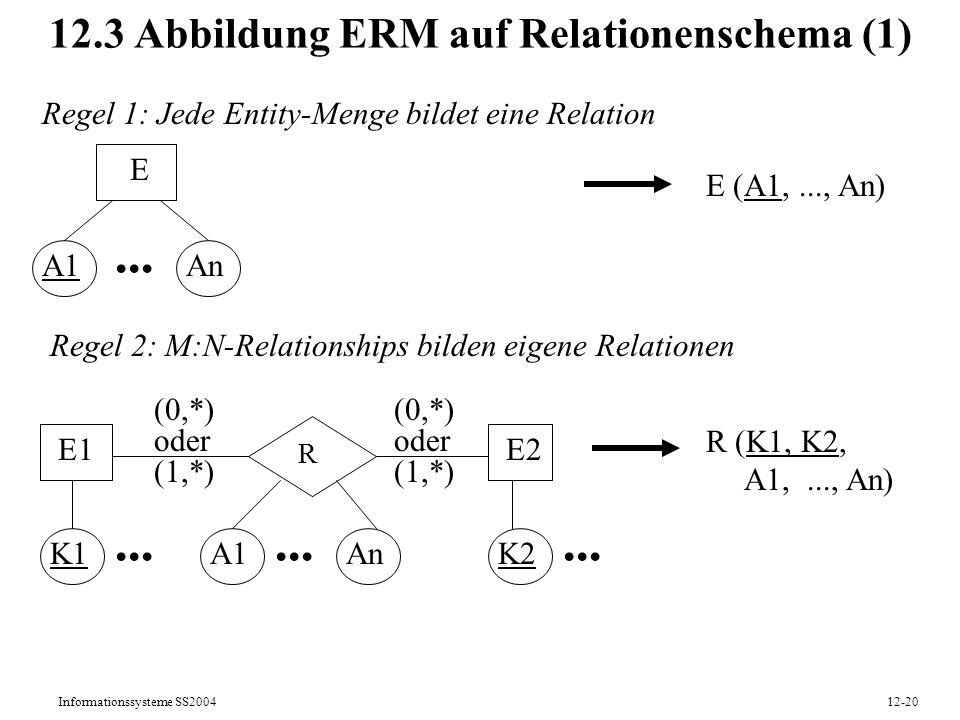 12.3 Abbildung ERM auf Relationenschema (1)