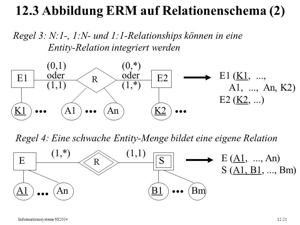 12.3 Abbildung ERM auf Relationenschema (2)