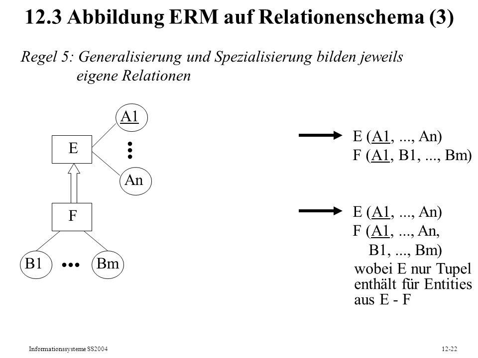 12.3 Abbildung ERM auf Relationenschema (3)