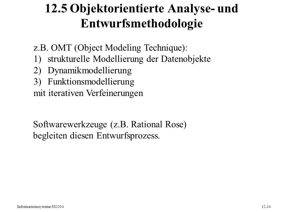 12.5 Objektorientierte Analyse- und Entwurfsmethodologie