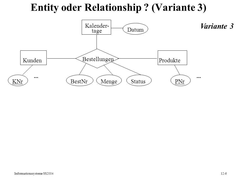 Entity oder Relationship (Variante 3)