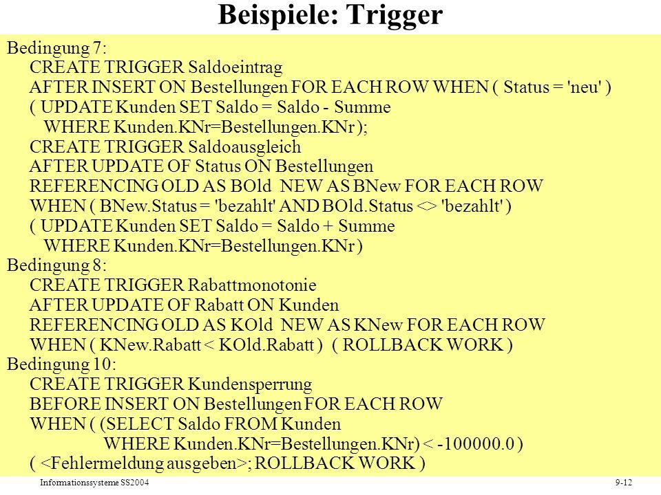 Beispiele: Trigger