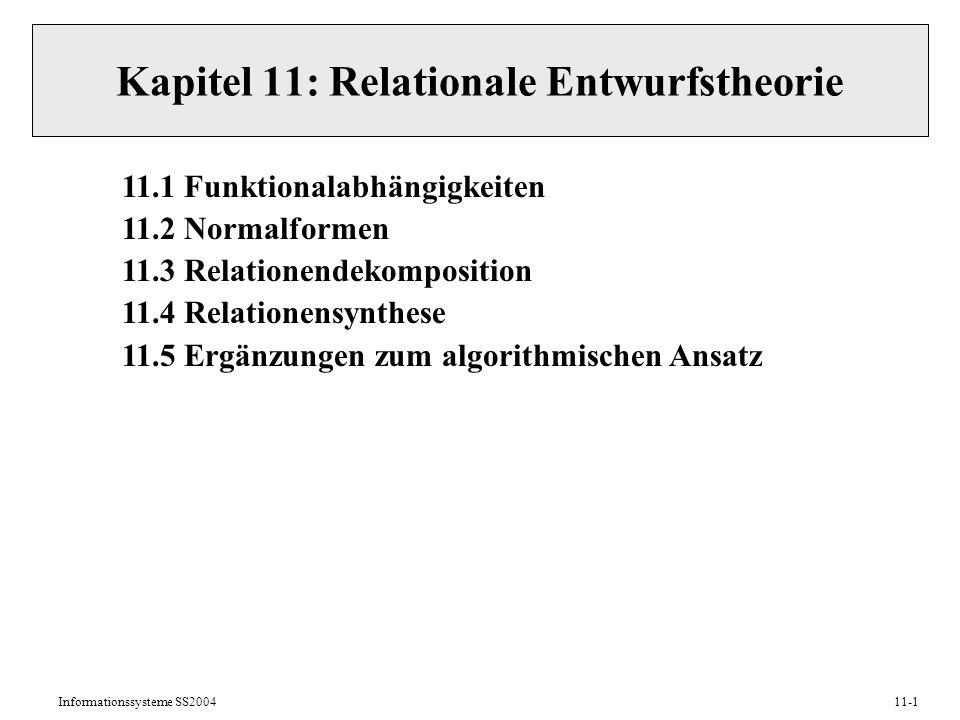 Kapitel 11: Relationale Entwurfstheorie