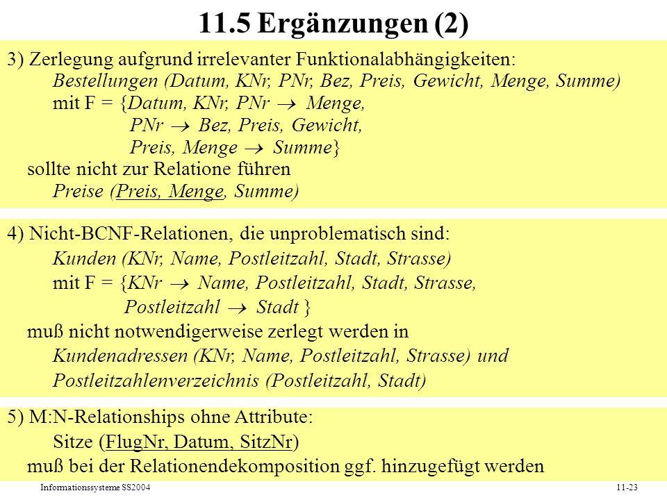 11.5 Ergänzungen (2)