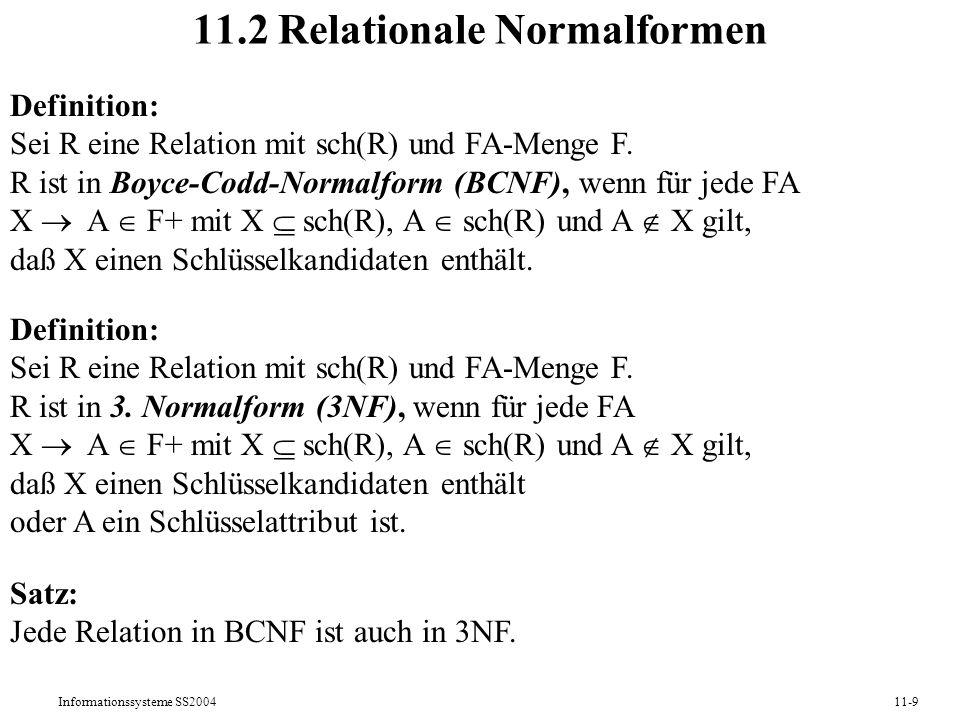 11.2 Relationale Normalformen
