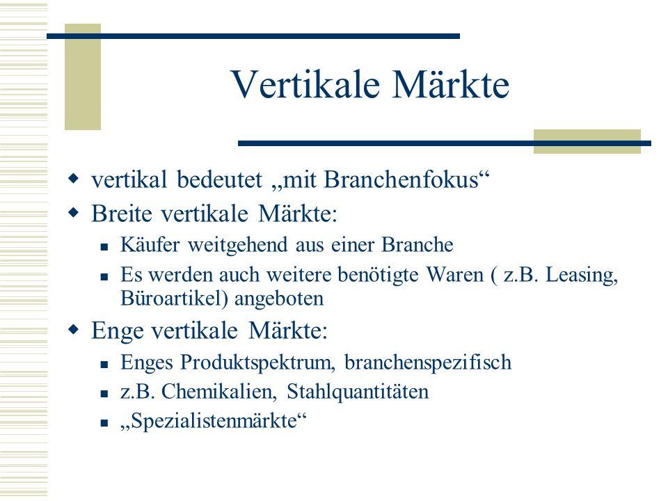 """Vertikale Märkte vertikal bedeutet """"mit Branchenfokus"""